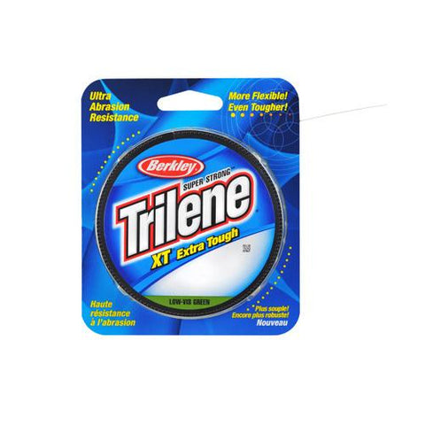 "Trilene XT  Monofilament Line Spool 330 Yards, 0.008"" Diameter, 4 lb Breaking Strength, Low-Vis Green"