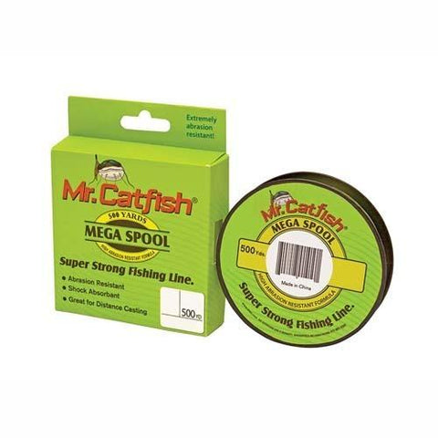 Mr Catfish Line Filler Spools, 500 Yards 25 lb, HiViz