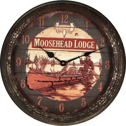 "15"" Metal Clock Moosehead"