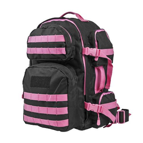 Tactical Backpack Black w/Pink