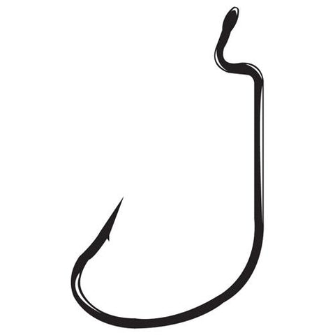 Worm Hook Size 3/0, Offset Shank, G-Lock, NS Black, Per 5
