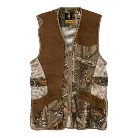 Crossover Vest Small, Realtree Xtra/Leather -