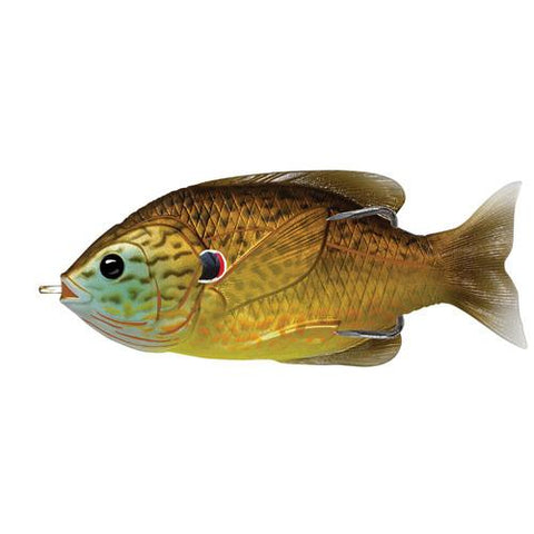 "Sunfish Hollow Body Freshwater, 3"", #3/0 Hook. Topwater Depth, Copper Pumpkinseed"