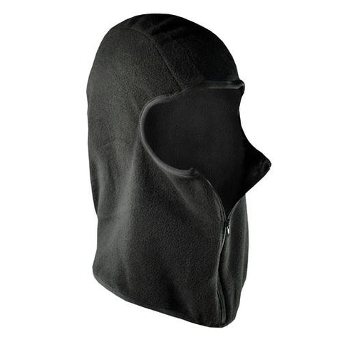 ZANheadgear Balaclava Microfleece with Zipper Black