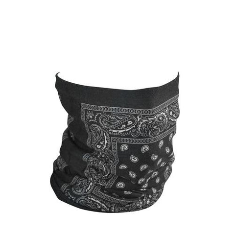 ZANheadgear Motley Tube Fleece Lined Black Paisley