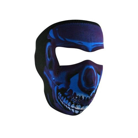 ZANheadgear Neoprene Full Mask - Blue Chrome Skull
