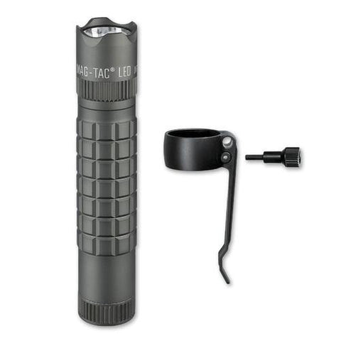Maglite Mag-Tac CR123 Flashlight, Crowned-Bezel, Urban Gray