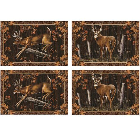 Rivers Edge 4 Piece Deer Placemat Set