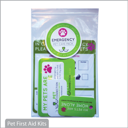 Pet Care Emergency Pack for identification