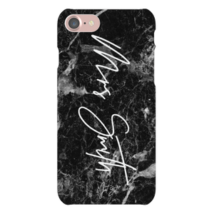 Mrs Personalised Phone Case Black Marble - TheJetSetUK