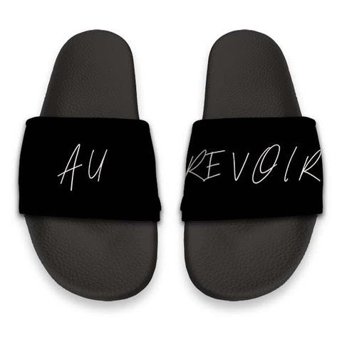 Personalised Sliders - Black with Hadwritten font - TheJetSetUK