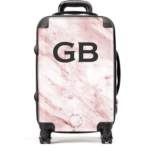 Pink Marble Suitcase