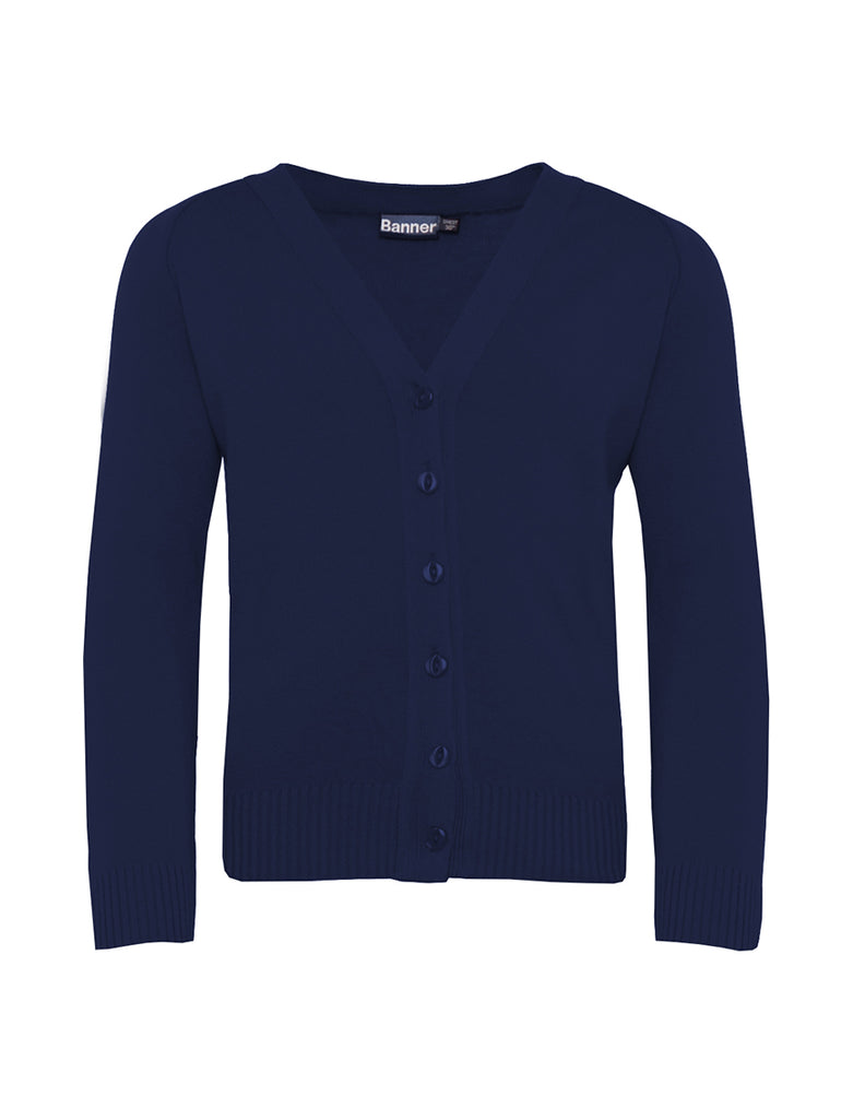 Nottage Navy Knitted Cardigan 50%Cotton-50%Acrylic