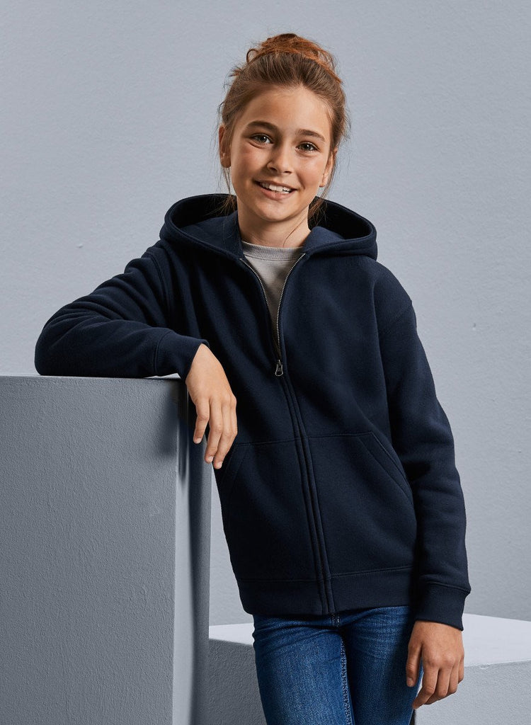Coity Navy Zip Through Hoodie