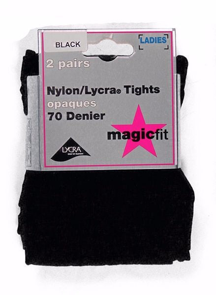 70 Denier Opaque Tights (Twin Pack)