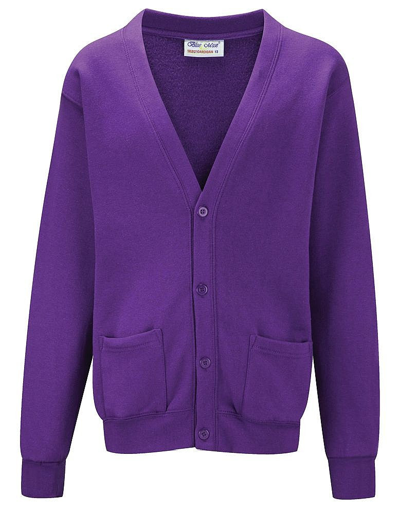 The Hollies School Purple Cardigan