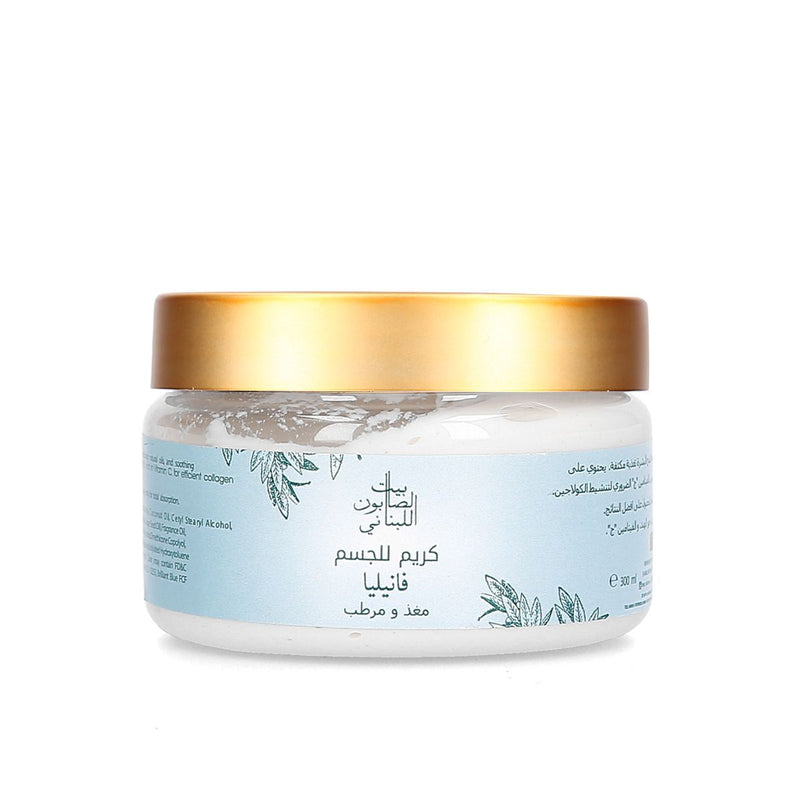 Bayt Al Saboun-Body Cream Vanilla 300G Online UAE | BEAUTY ON WHEELS