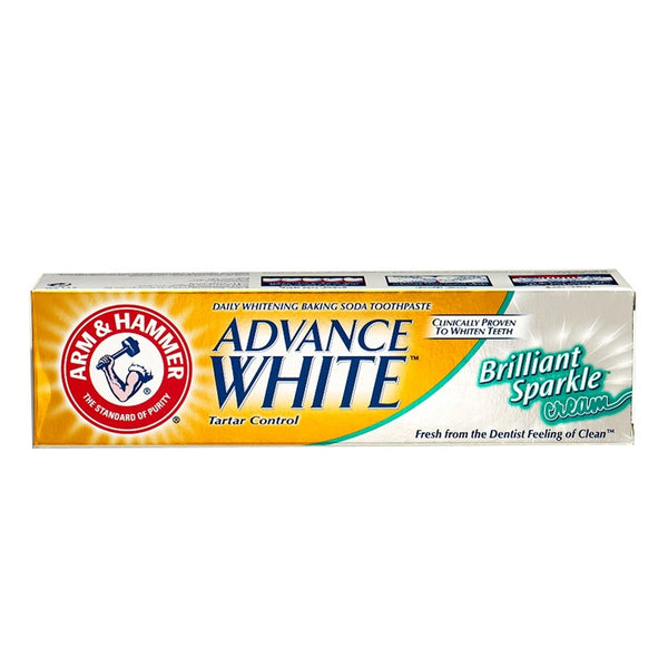 Advance White Brilliant Sparkle Cream Toothpaste 115g-ARM & HAMMER-UAE-BEAUTY ON WHEELS