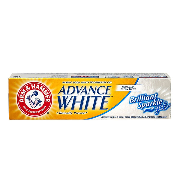 Advance White Brilliant Sparkle Gel Toothpaste 115g-ARM & HAMMER-UAE-BEAUTY ON WHEELS