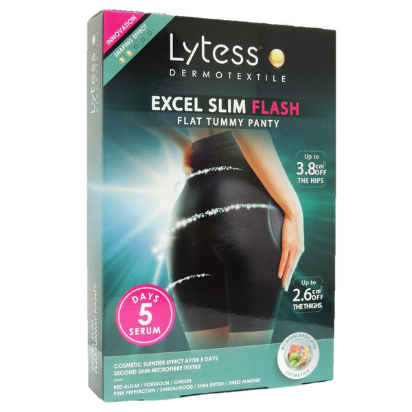 Excel Slim Flash Flat Tummy Panty S/M Black-Lytess-UAE-BEAUTY ON WHEELS