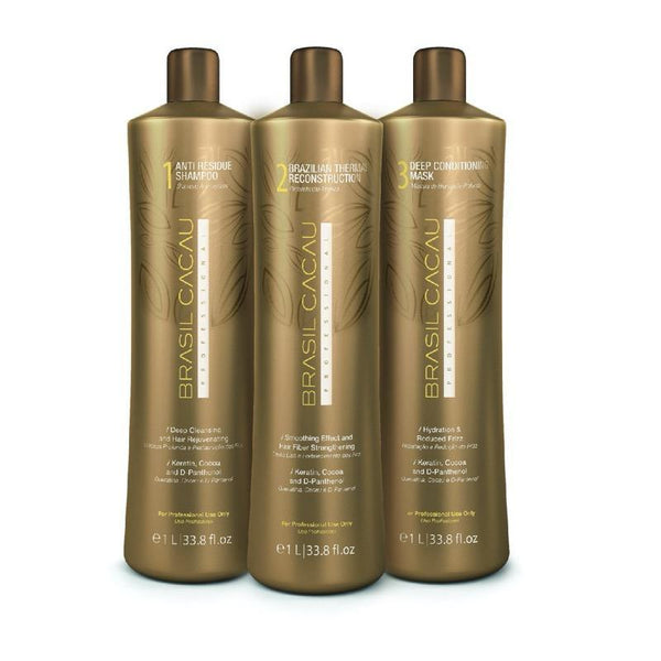 Brasil Cacau Keratin Hair Straightening Kit 3X1 L