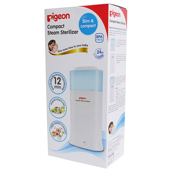 Compact Steam Sterilizer For Two Bottles (G-Type)-Pigeon-UAE-BEAUTY ON WHEELS