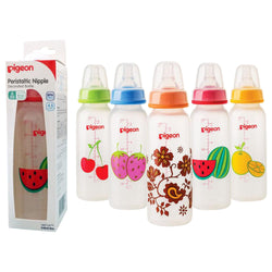 Decorated Plastic Bottle 240ml (Fruits)-Pigeon-UAE-BEAUTY ON WHEELS