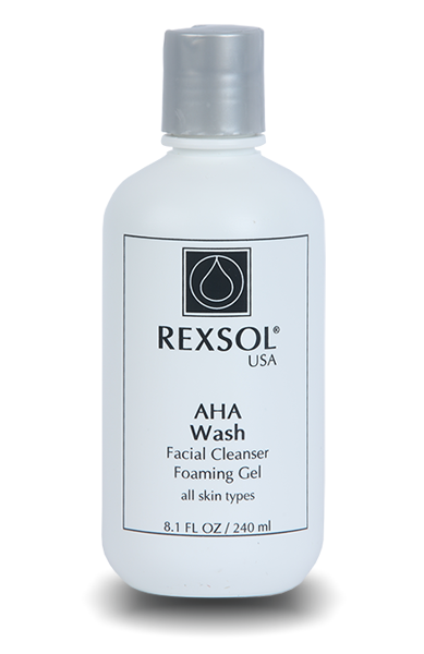 Aha Wash Facial Cleanser Foaming Gel 240 Ml-Rexsol-UAE-BEAUTY ON WHEELS