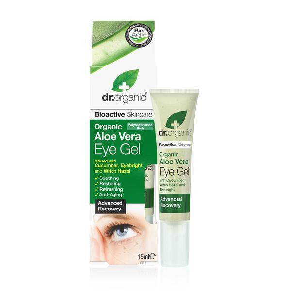 Aloe Vera Eye Gel 15Ml-Dr Organic-UAE-BEAUTY ON WHEELS