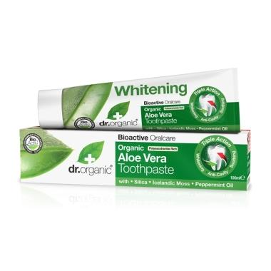 Aloe Vera Toothpaste 100ml-Dr Organic-UAE-BEAUTY ON WHEELS