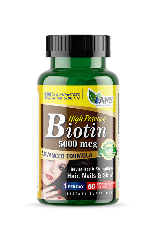 AMS Biotin 5,000 Mcg-AMS-UAE-BEAUTY ON WHEELS