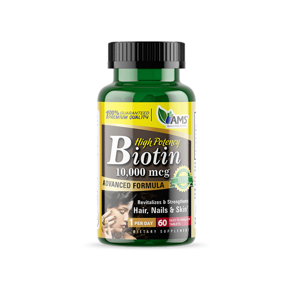 AMS Biotin 10,000 Mcg-AMS-UAE-BEAUTY ON WHEELS