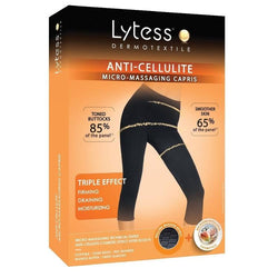 Anti-Cellulite Micro-Massaging Capris White L/Xl-Lytess-UAE-BEAUTY ON WHEELS