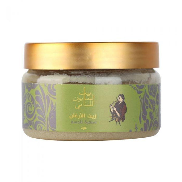 Bayt Al Saboun-Argan Oil Body Sugar Scrub Oud 300G Online UAE | BEAUTY ON WHEELS