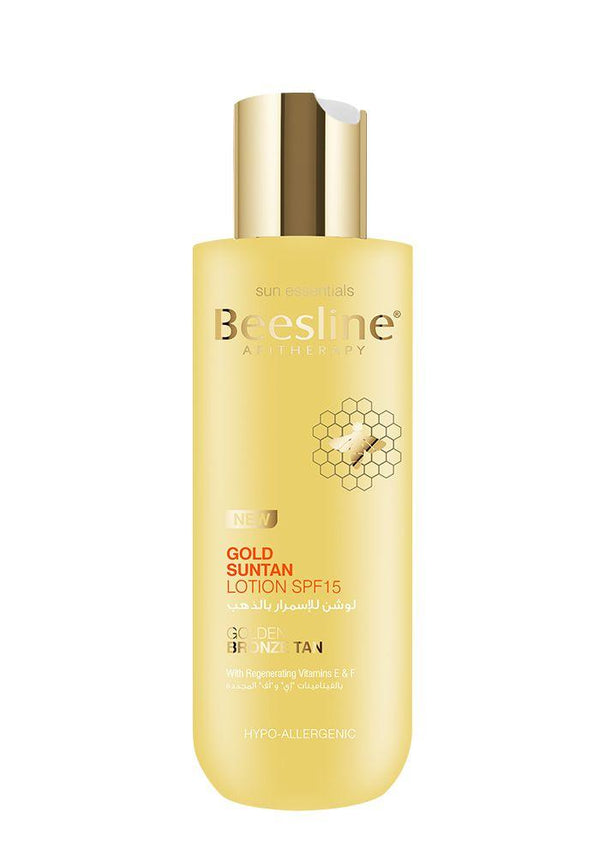 Beesline Gold suntan lotion Spf 15-Beesline-UAE-BEAUTY ON WHEELS