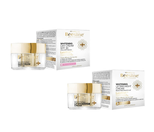 Beesline-Whitening Day & Night Cream Set-BEAUTY ON WHEELS