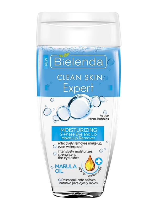 Bielenda-Clean Skin Expert Moisturizing 2-Phase Eye And Lip Make-Up Remover With Marula Oil 150 Ml-BEAUTY ON WHEELS