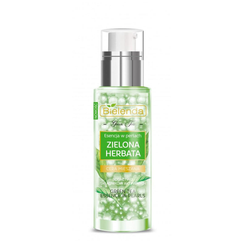 Bielenda-Green Tea Essence In Pearls Face Serum 30 Ml-BEAUTY ON WHEELS