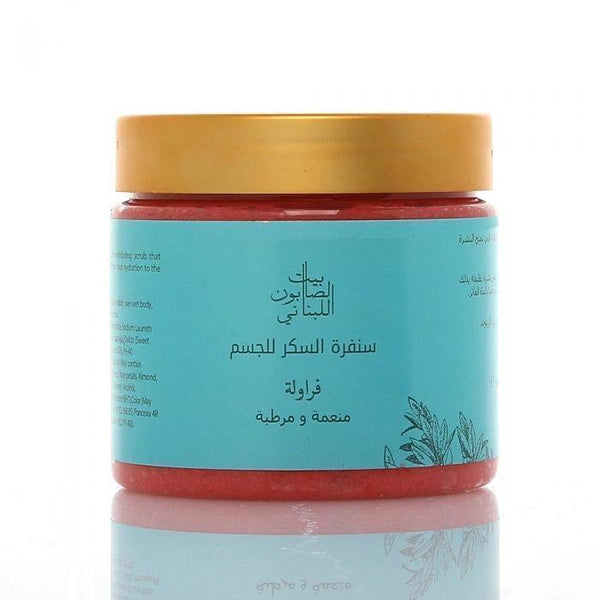 Body Sugar Scrub Strawberry 500G - BeautyOnWheels