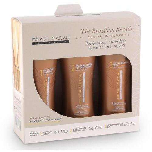 Brasil Cacau Brazilian Keratin Treatment, Set Of 3, 3 X 110 Ml - BeautyOnWheels