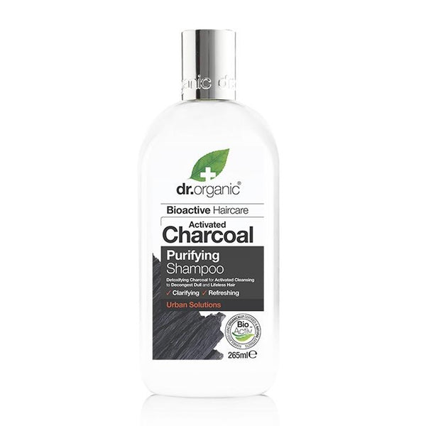 Charcoal Shampoo 265Ml-Dr Organic-UAE-BEAUTY ON WHEELS