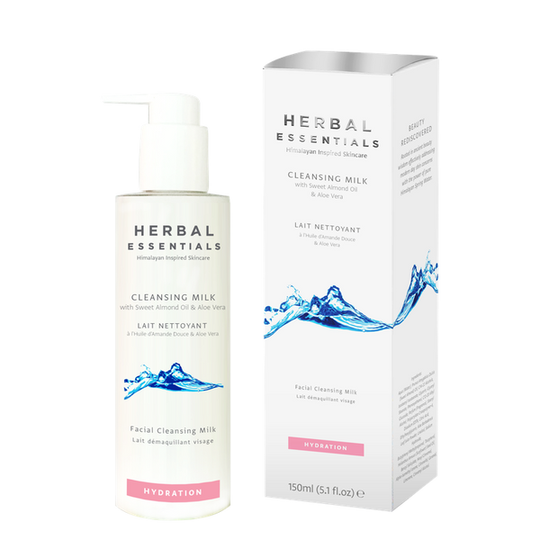 Cleansing Milk With Sweet Almond Oil & Aloe Vera-Herbal Essentials-UAE-BEAUTY ON WHEELS