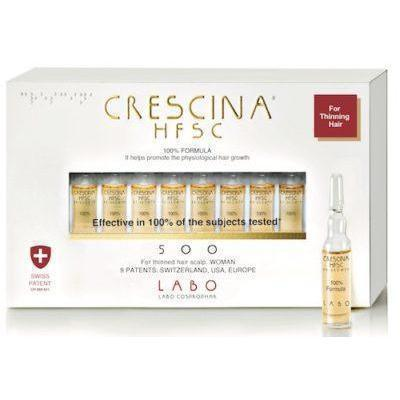 CRESCINA HFSC 100% RE GROWTH 500 WOMAN 10 VIALS-Crescina-UAE-BEAUTY ON WHEELS