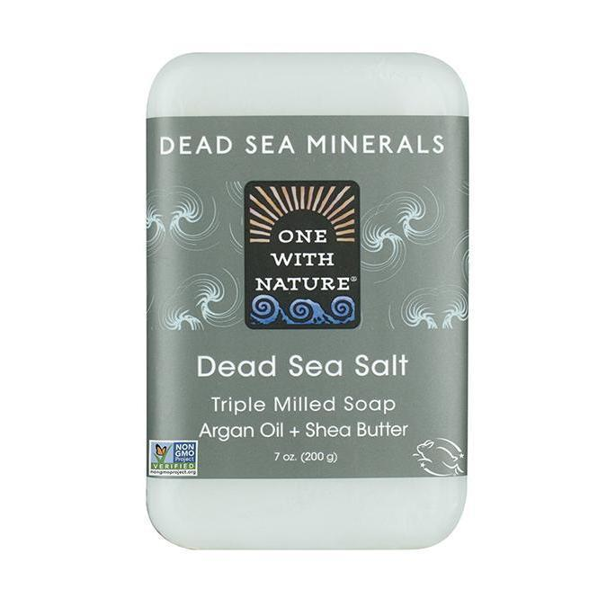 Dead Sea Salt Bar Soap-One With Nature-UAE-BEAUTY ON WHEELS