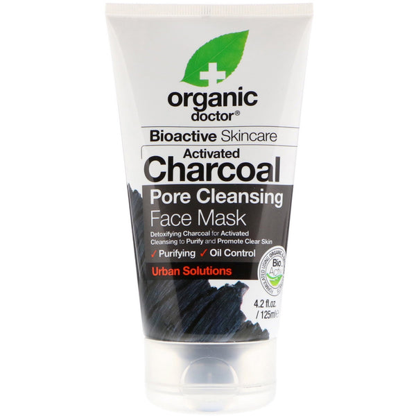 Charcoal Face Mask 125ml-Dr Organic-UAE-BEAUTY ON WHEELS