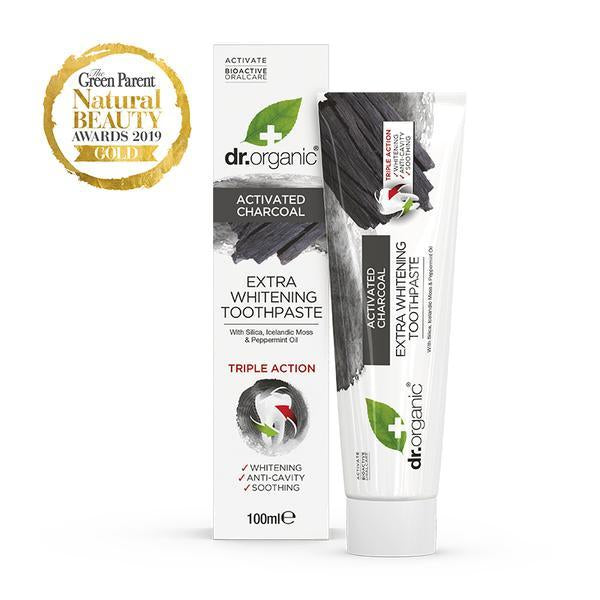 Charcoal Toothpaste 100ml-Dr Organic-UAE-BEAUTY ON WHEELS