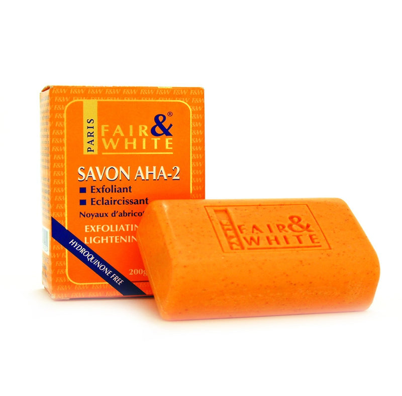 Fair & White-Aha-2 Exfoliating & Lightenning Soap 200Gm-UAE | BEAUTY ON WHEELS