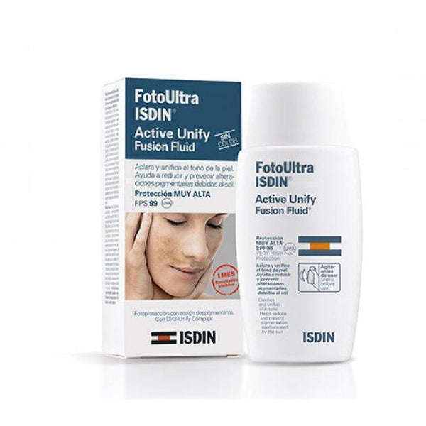 Fotoultra 100 Isdin Active Unify Fusion Fluid Color 50Ml-Face Care-ISDIN-BEAUTY ON WHEELS-UAE-Dubai-Abudhabi-KSA-الامارات