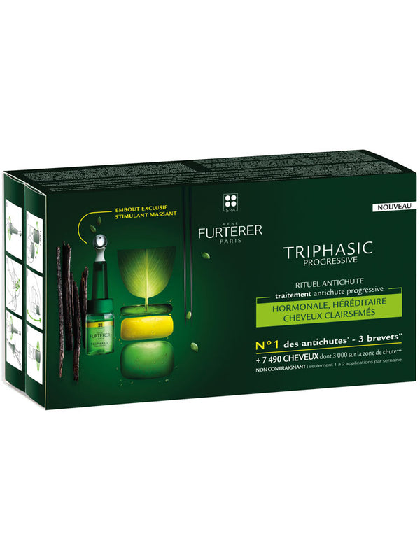 TRIPHASIC Serum Anti Hair Loss 8 X 5.5 Ml-Rene Furterer-UAE-BEAUTY ON WHEELS