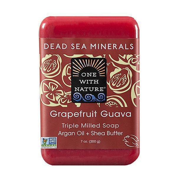 Grapefruit Guava Bar Soap-One With Nature-UAE-BEAUTY ON WHEELS